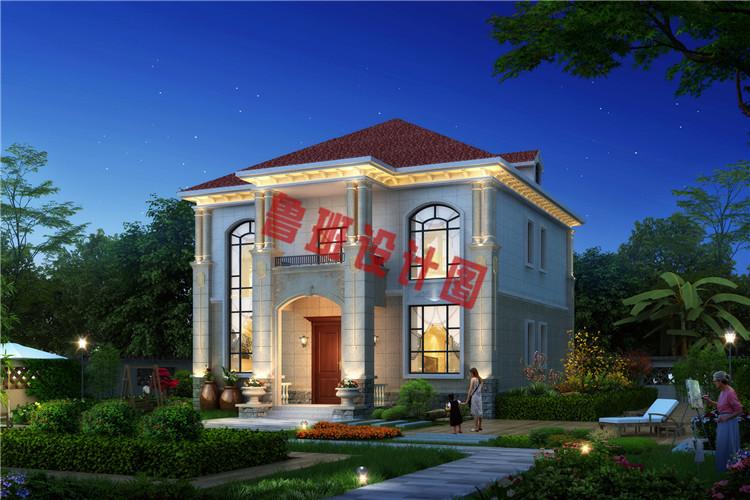 经典二层欧式别墅外观图