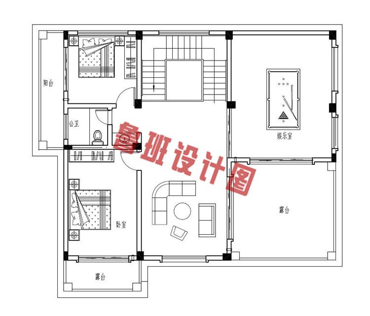 三层新中式别墅三层户型图