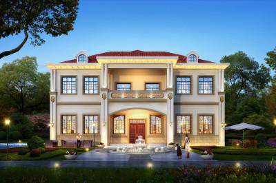 2019新款现代二层别墅小洋楼设计图,设计美观,户型经典