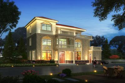 190平大户型欧式别墅设计图效果图,漂亮又大气