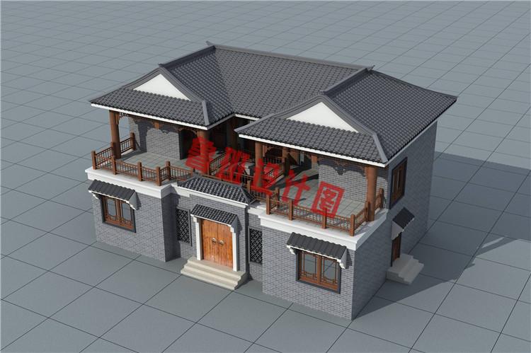 二层四合院别墅设计图片