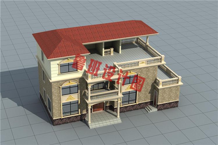 190平大户型欧式别墅设计图片
