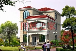 小开间的简单三层自建房设计图,造价低,很实用