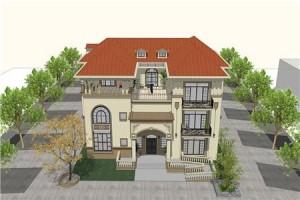 开间22米的农村三层欧式别墅设计图,大户人家的选择