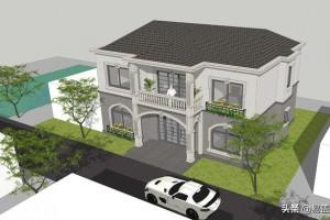 湖南长沙2层欧式农村别墅设计,建出来很漂亮