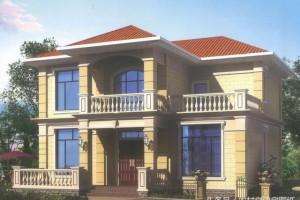 农村自建别墅设计图,12X10米二层农村小别墅,经济性强!