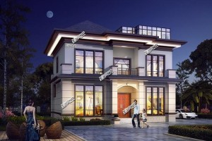 90平的二层别墅设计图,户型方正实用!