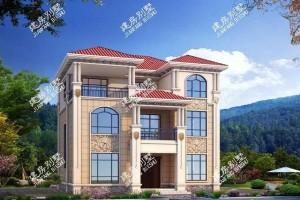 靓丽欧式外观风格的三层别墅设计效果图,造型美观养眼!