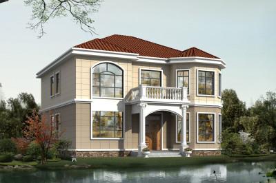 12×13米美观二层别墅设计图,造价经济,经典时尚