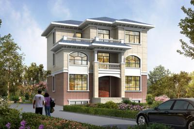 新款农村三层住房设计图,外观简约时尚,造价不高