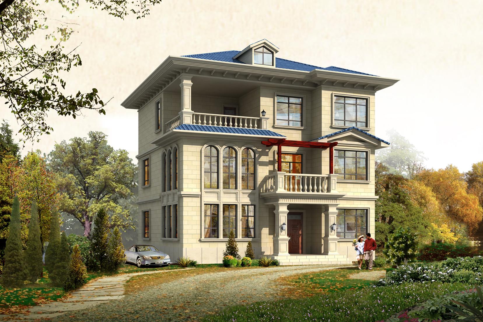占地125平时尚三层楼房别墅设计图,设计简约时尚