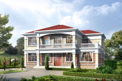 200平二层农村住宅自建房设计图,清新自然的建房系列