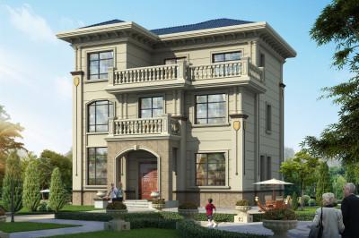 11×13米简欧三层别墅房屋设计图,户型合理,外