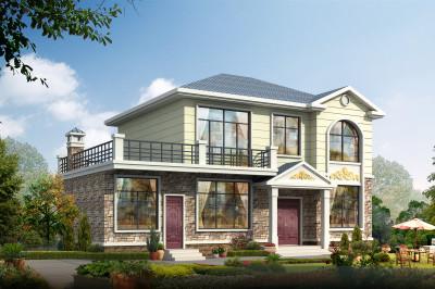 4间2层农村房子设计图,带大露台,造价又经济实惠。
