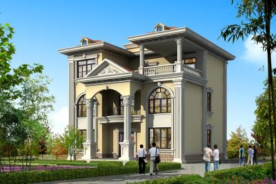140平三层农村房子设计图,含外观图片