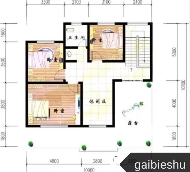 11✖11米户型: 15万带架空车库农村二层小别墅全套施工图