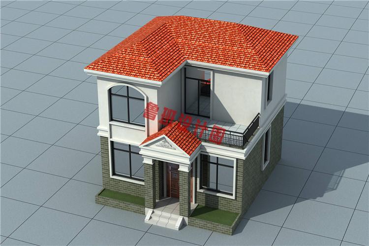 小户型二层别墅鸟瞰图