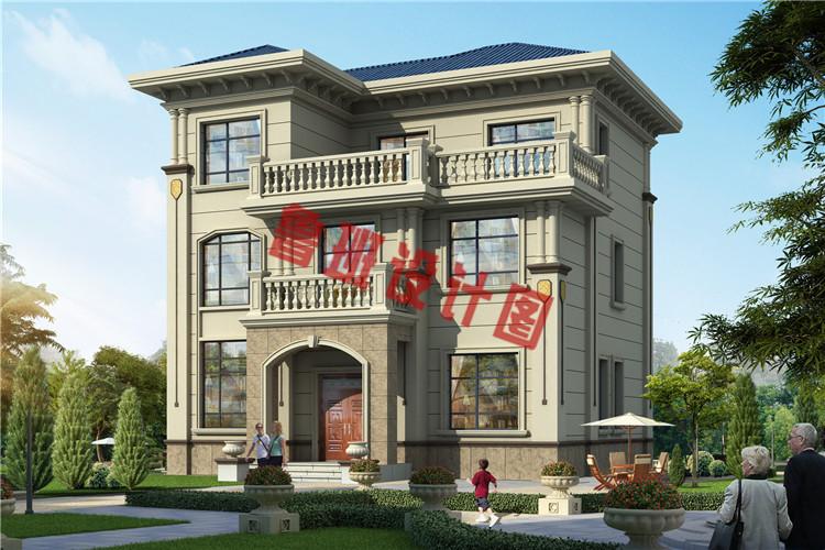 11 13米简欧三层别墅房屋设计图,户型合理,外观时尚