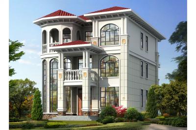 造价33万三层别墅设计图方案设计图,精美的设计,处处彰显大气