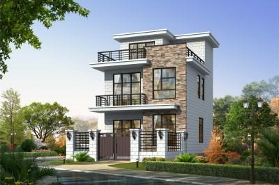 60平小户型三层别墅房屋设计图,造价13万左右