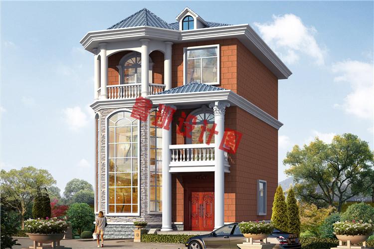 三层农村楼房设计效果图