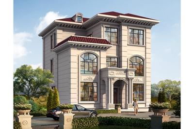 10乘12米三层别墅楼房图片及设计图,欧式精美、