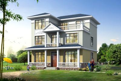 简约最新款三层别墅图片及设计图,带大露台