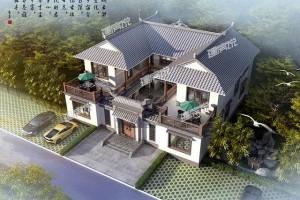 四合院二层别墅设计效果图,村里最美当之无愧!