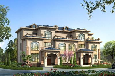 高端大气兄弟三层双拼自建别墅设计图,外观豪华