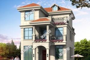 2款面宽8.5米的三层别墅设计效果图,风格迥然。