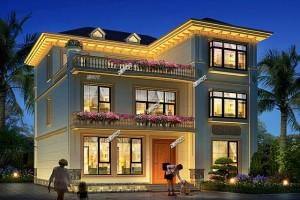 村里最美的独栋别墅三层设计方案,豪华大气。