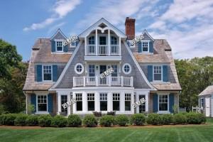 农村豪华自建欧式别墅外观效果图,别有一番典雅的韵味。