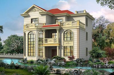13×10米左右的三层独栋别墅设计图,农村自建房就选它