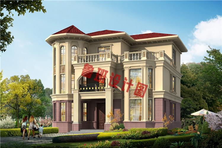 新款三层复式别墅自建房设计效果图