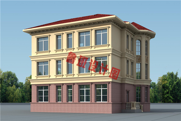 新款三层复式别墅自建房设计图片