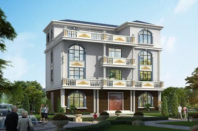 150平左右新农村四层房子别墅设计图,采光通风良好