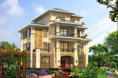 最新款三层半别墅图片及户型设计图,自建很高端