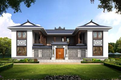 新中式现代二层小四合院别墅设计图,户型好,