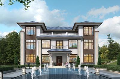 新中式豪宅三层别墅设计图,高端、大气,上档次