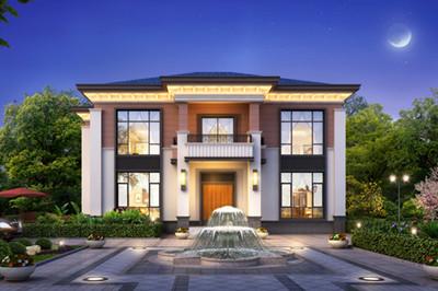 农村自建房15×11米现代时尚二层别墅设计图,户型方案好