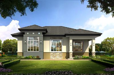 200平米新农村一层简单房屋全套别墅设计图纸
