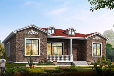 乡村一层住宅设计图自建房方案,好看、经济