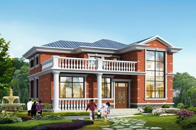 11×10米农村二层别墅房子设计图,外观清新亮眼