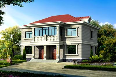 简单经济二层双拼住宅房屋设计户型,主体造价30万内