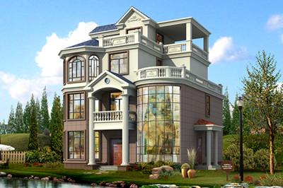 120平四层楼房自建别墅设计图,外观豪华,带多露台