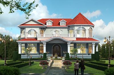 200多平的乡村二层欧式别墅设计图,精美绝伦
