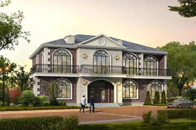 4间两层自建房别墅设计图,户型经典,外观图漂亮