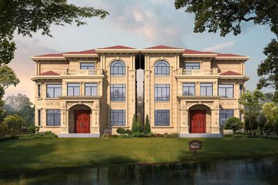 外型豪华大气布局实用的自建三层别墅设计图,占地130平方米左右
