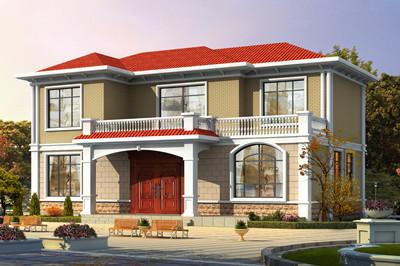 带柴火房二层自建房别墅设计图,既高端又接地气