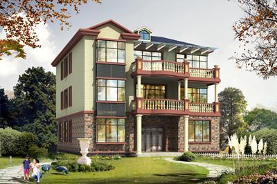 13×16米农村自建房三层别墅设计图,外观精致亮丽